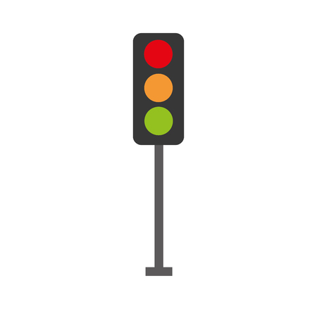 traffic lights electric equipment control vector illustration Фото со стока - 85808824