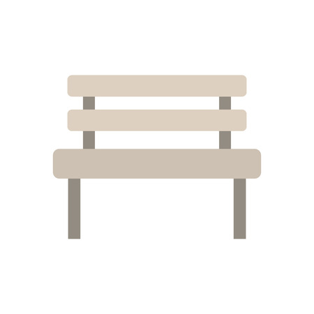 A bench park rest comfort chair decoration vector illustration. Illusztráció
