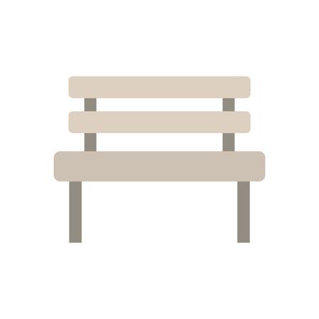 A bench park rest comfort chair decoration vector illustration. Illustration