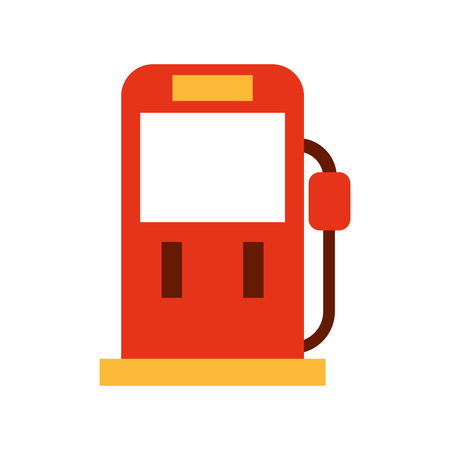 red gasoline fuel pump filling station equipment icon vector illustration Illustration