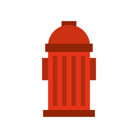 red fire hydrant on the street emergency equipment vector illustration 向量圖像