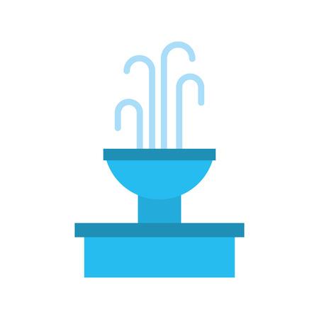 噴水と水スプラッシュ要素ベクトルイラスト 写真素材 - 85808828