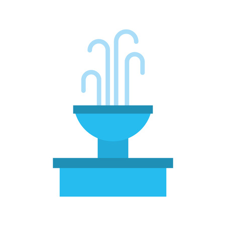fountain with water splash element vector illustration Banco de Imagens - 85808828