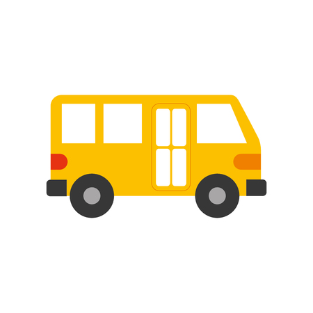 A bus transport service public urban vehicle vector illustration.