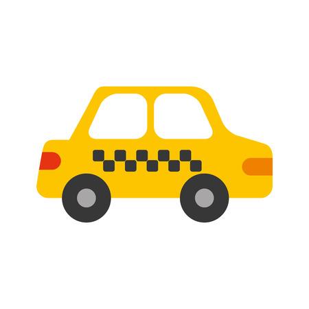 タクシーカー輸送公共サービス都市車両ベクトルイラスト