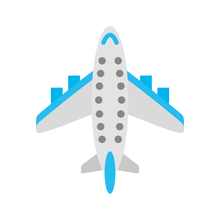 Airplane transport commercial passenger business vector illustration. 向量圖像