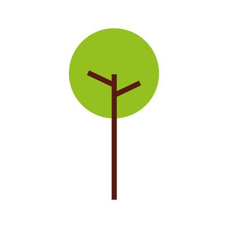 樹木自然葉公園植物ベクターイラスト