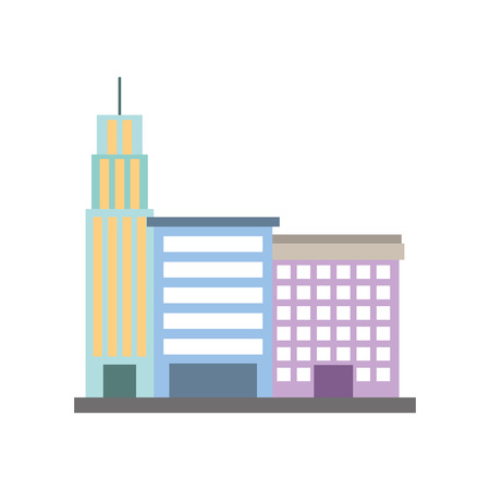A city building business property architecture modern vector illustration