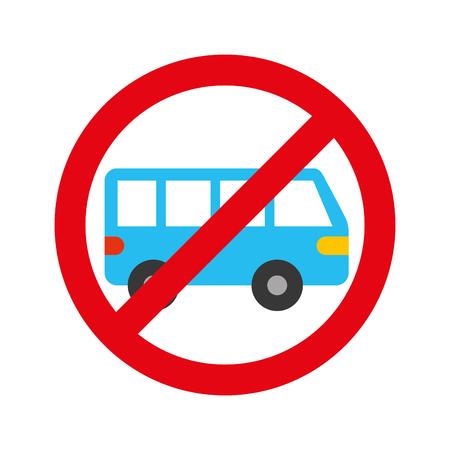 geen auto of geen parkeerbord verbieden vectorillustratie Vector Illustratie