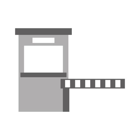 駐車場ペイメントステーションアクセス制御コンセプト図。