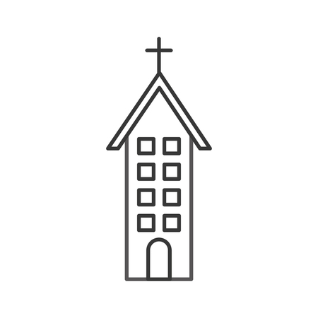 Church building christian religion architecture illustration.