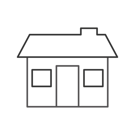 House structure real estate property residential with chimney vector illustration Ilustrace