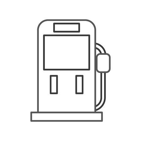 Gasoline fuel pump filling station equipment icon vector illustration