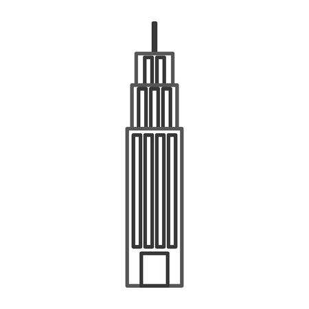 ビルタワー高層ビル商業ビジネスイラストレーション  イラスト・ベクター素材