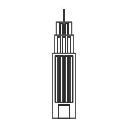 Building tower skyscraper commercial business illustration
