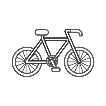 Bicycle transport ecology vehicle traditional vector illustration