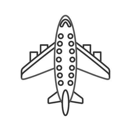 airplane transport commercial passenger business vector illustration 向量圖像