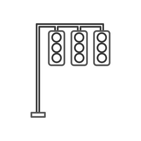 交通信号電気機器制御。  イラスト・ベクター素材