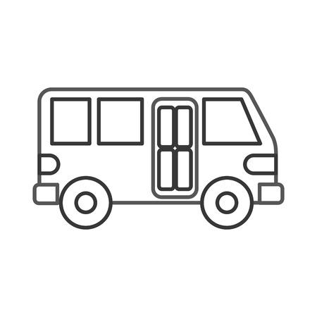 バス輸送サービス公共都市車両。  イラスト・ベクター素材