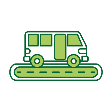 Bus street service public urban vehicle. Ilustracja