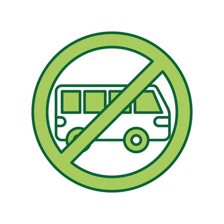 車や駐車禁止標識を禁止しません。