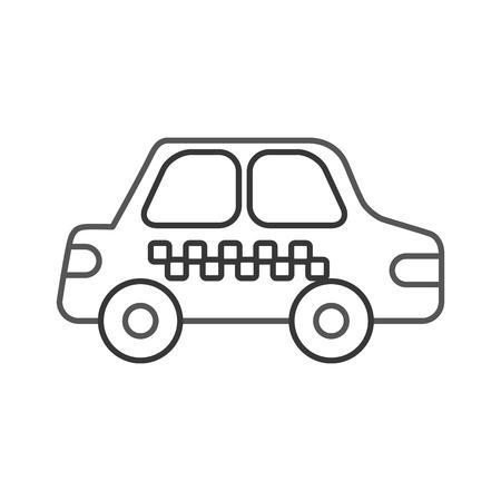 택시 자동차 운송 공공 서비스 도시 차량 벡터 일러스트 레이션