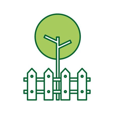 Arbre clôture bois naturel branche de jardin de jardin Banque d'images - 85694379