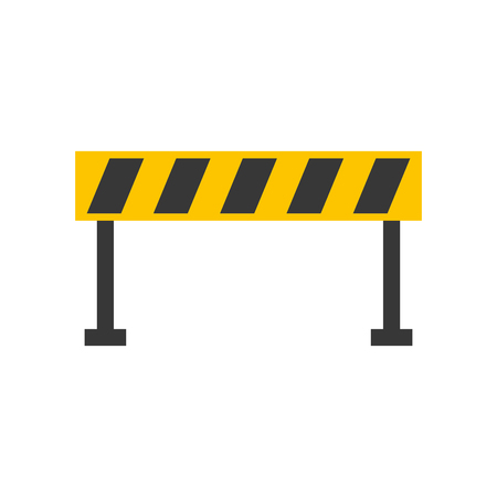 Barrier traffic equipment warning caution.