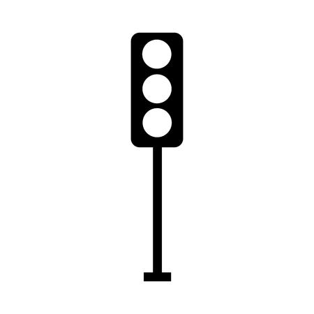 Sinalização de silhueta preta elétrica controle de equipamentos ilustração vetorial Foto de archivo - 85713333