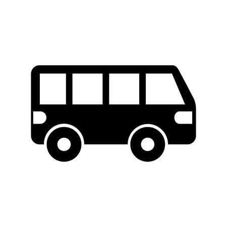 Van auto transport voertuig motor wiel illustratie.