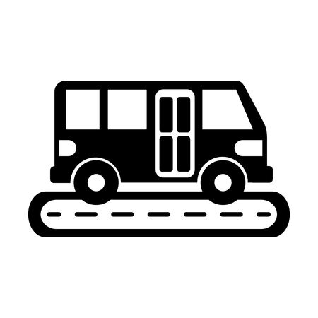 Bus street service public urban vehicle illustration. Ilustracja