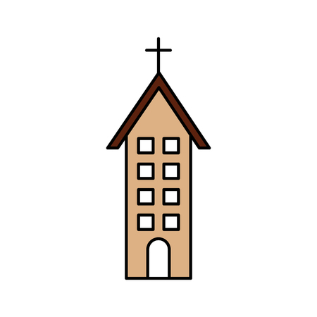 Church building christian religion illustration. Stok Fotoğraf - 85715040
