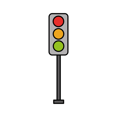 Traffic lights electric equipment control illustration.