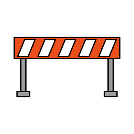 Barrier traffic equipment warning caution illustration. 向量圖像
