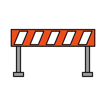 Het verkeersmateriaal van de barrière waarschuwende voorzichtigheidsillustratie.