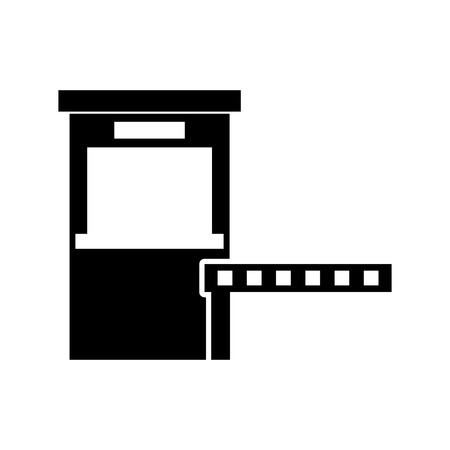 Parkeren betaalstation toegangscontrole concept illustratie.