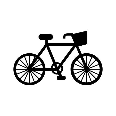 自転車輸送エコロジー車両伝統的なイラスト。  イラスト・ベクター素材