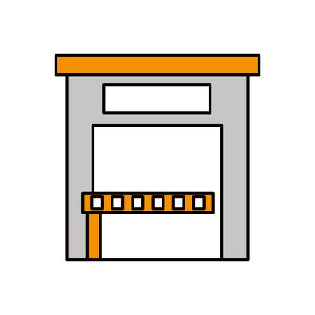 Bâtiment service de stationnement extérieur public illustration vectorielle Banque d'images - 85808852