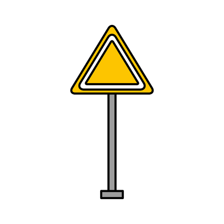 A traffic signal warning caution attention blank vector illustration.