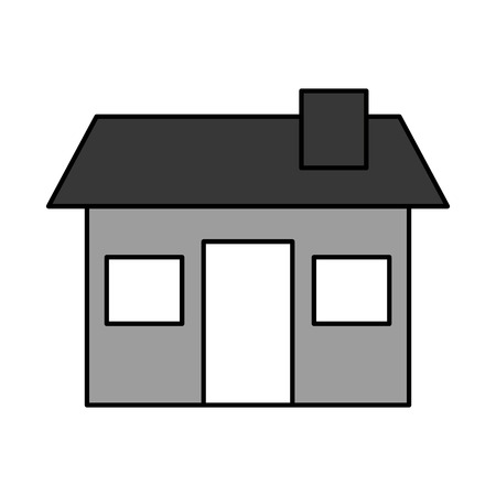 A house structure real estate property residential with chimney vector illustration.