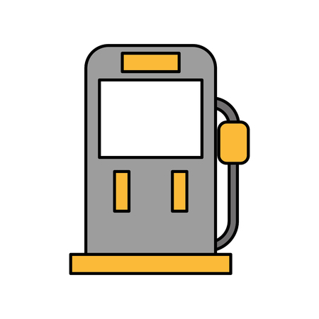 A gasoline fuel pump filling station equipment icon vector illustration. Illustration
