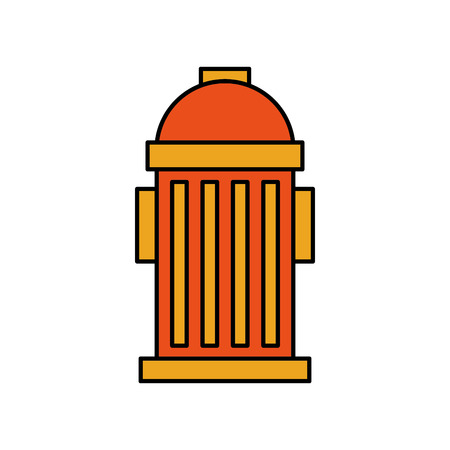 A fire hydrant on the street emergency equipment vector illustration.