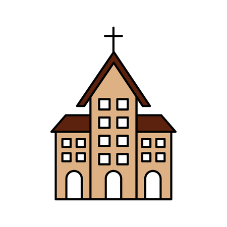 church building christian religion architecture vector illustration Stok Fotoğraf - 85712041