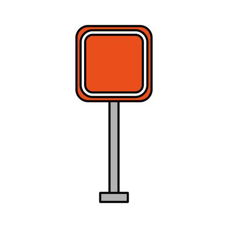 正方形信号交通注意方法ストリートベクトルイラスト