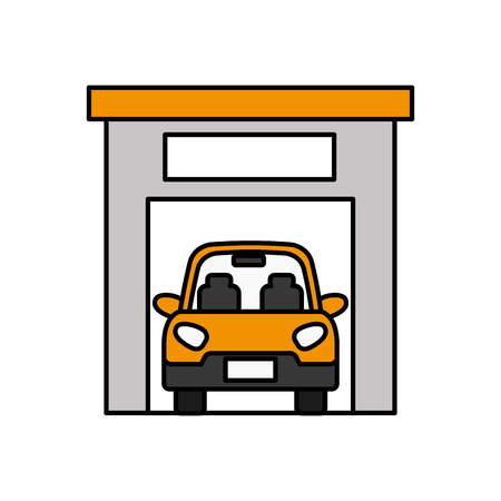 car inside garage icon image vector illustration