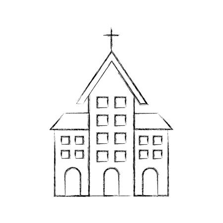 church building christian religion architecture vector illustration Stock fotó - 85696727