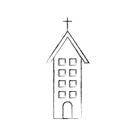 church building christian religion architecture vector illustration 向量圖像