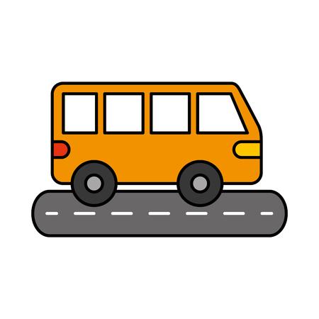 Van auto straat transport voertuig wiel vectorillustratie Stockfoto - 85696765