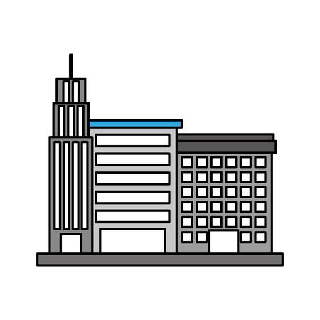 Stad gebouw bedrijfseigendom. Stock Illustratie
