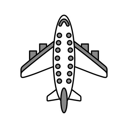 飛行機輸送民間の乗客。  イラスト・ベクター素材